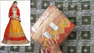 Unboxing net embroidery lehenga suit from amazon | latest lehenga designs | new lehenga design