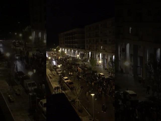 #dopole22 protesta contro il coprifuoco a Cuneo