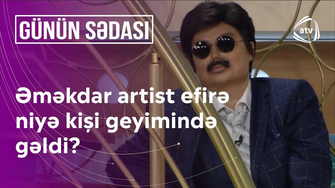 Əməkdar artist canlı efirə kişi geyimində gəldi - Heç kəs tanımadı - Günün sədası