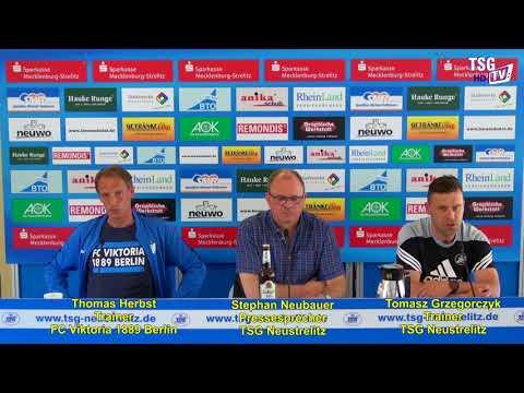 Die Pressekonferenz TSG Ntz. vs. FC Viktoria 1889 Berlin