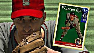 97 WARREN SPAHN DEBUT!! MLB THE SHOW 17 DIAMOND DYNASTY