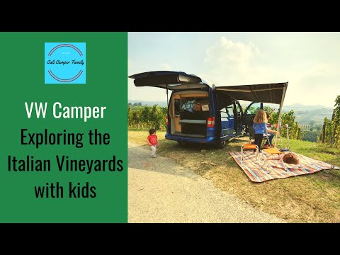 VW Camper Weekend in the Italian Vineyards with kids