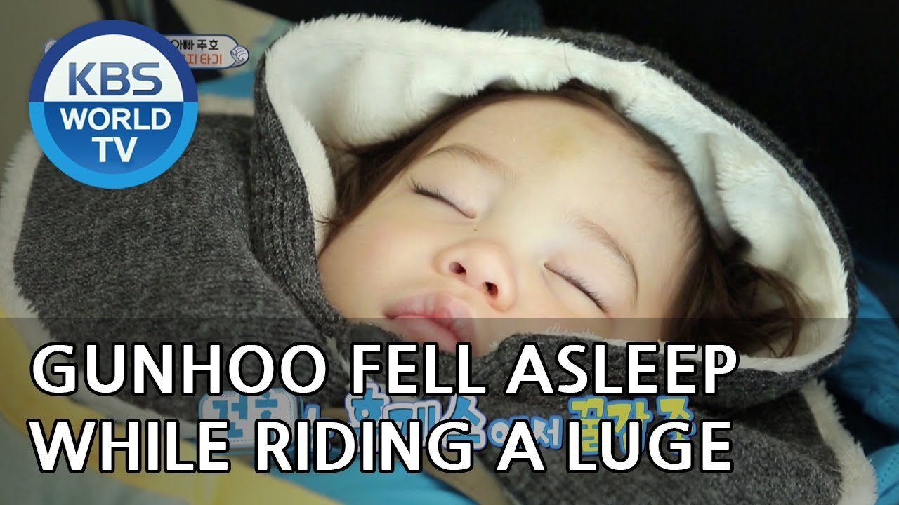 Gunhoo fell asleep while riding a luge LOL [The Return of Superman/2019.02.17]