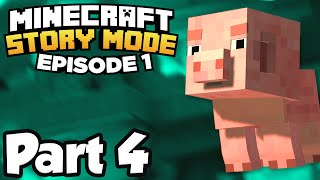 Minecraft: Story Mode [Episode 1] Part 4 - ORDER OF THE STONE RUINS!!! (Full Gameplay)