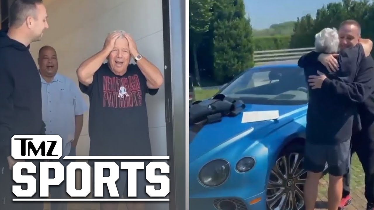 Meek & Jay-Z Help Surprise Patriots Owner R. Kraft With A Bentley For His 80th Birthday
