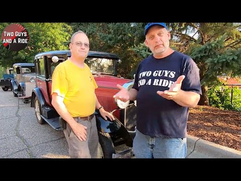 Traveling the USA in his 1930 Ford Model A Town Sedan