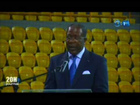 Inauguration du nouveau palais des sports de Libreville par le président Ali Bongo