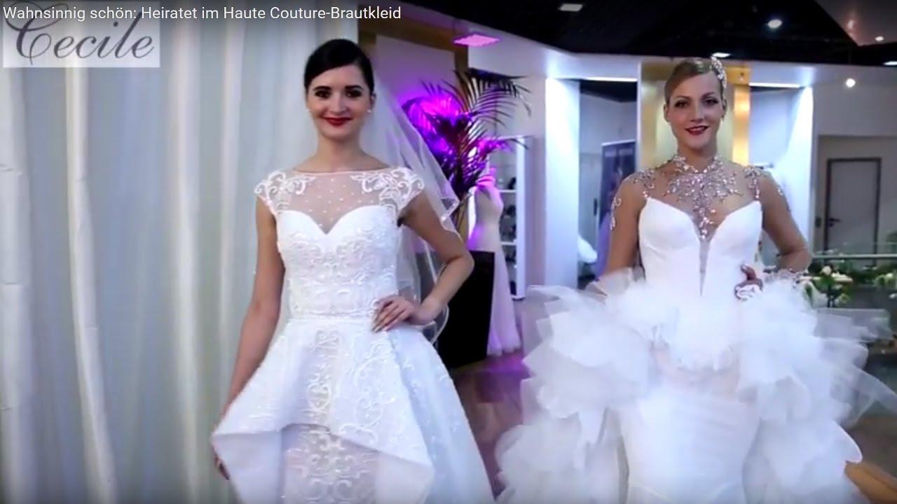 Wahnsinnig Schon Heiratet Im Haute Couture Brautkleid Youtube
