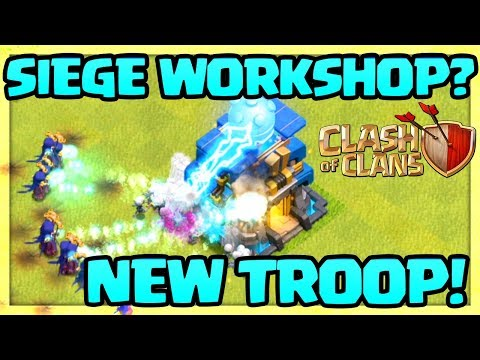 SIEGE WORKSHOP? Clash of Clans Town Hall 12 UPDATE - 5 Levels DEFEND!