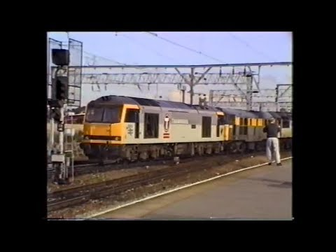 Trains In The 1990's   Crewe Diesel & Electric Variety, July 1994