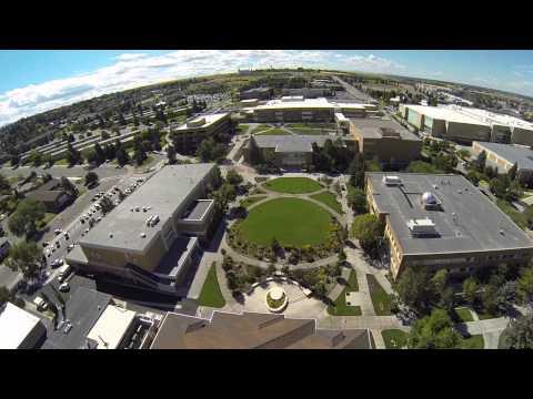 Flying over BYU Idaho Campus-Nice views of Spori, Snow, Kirkham, Clark, Romney, Snow, Manwaring