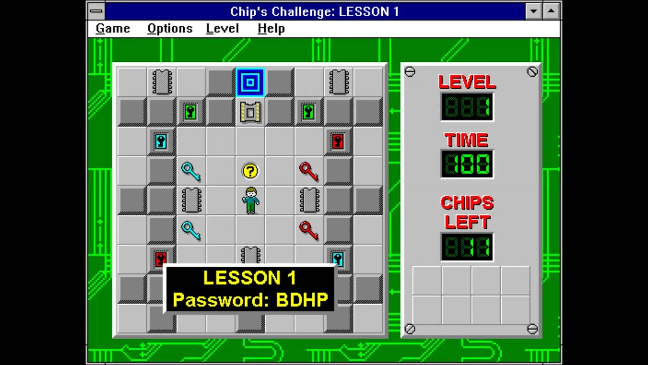 Chip's Challenge - Aaarrgghhh! Windows 95 retro old PC games puzzle