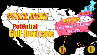Tropical Update! Potential Gulf Hurricane! - Extreme Weather For Days! - The WeatherMan Plus