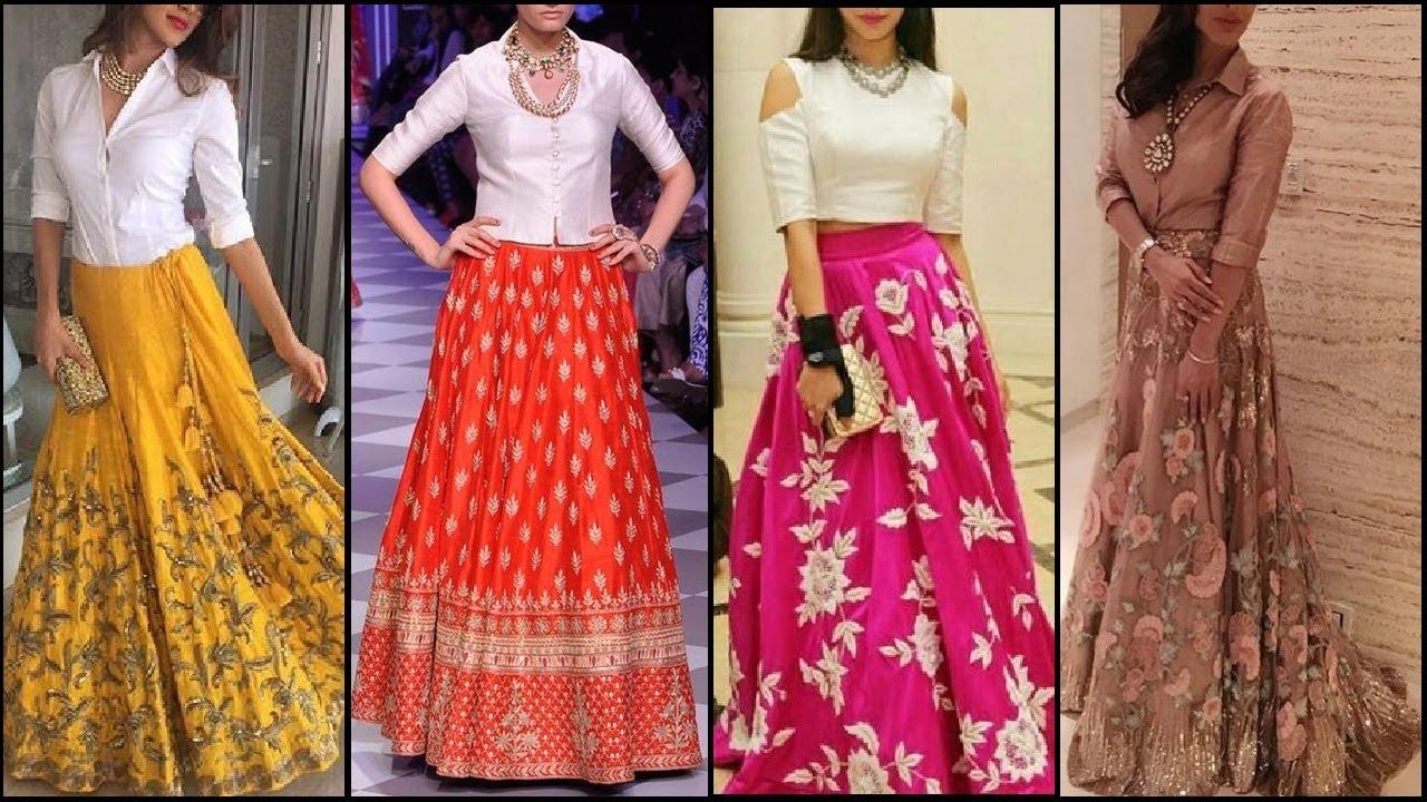 latest shirt lehenga designs current trend in lehenga
