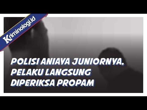 Video Viral Polisi Aniaya Juniornya, Pelaku Langsung Diperiksa Propam