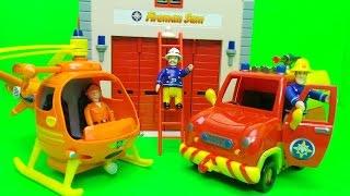 New Feuerwehrmann Fireman Sam Pontpandy Rescue Playset Opening and Officer Steele needs help