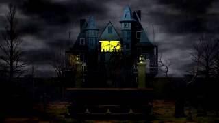 4K Vampire House Video Background 3D Animation Halloween Night UHD