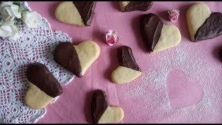 Sevgililer Günü İçin Çikolatalı Kalp Kurabiye