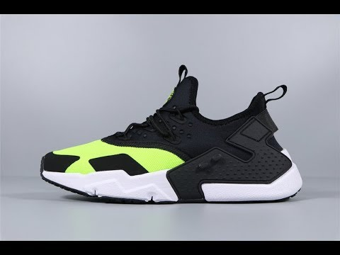 e7eb053b20608f Nike Air Huarache Drift Black Volt AH7334-700 Men Sport Shoes FROM Robert