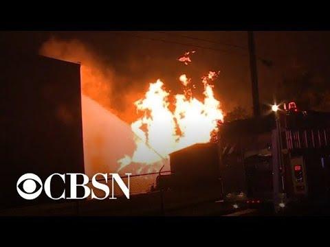 Fire destroys Jim Beam warehouse filled with bourbon barrels