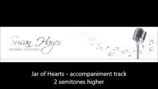Jar of Hearts - accompaniment track - higher key