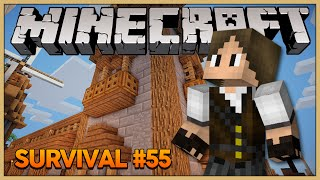 Minecraft Survival #55: Construindo a torre dos baús!