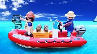 Boat toys for kids - Review playmobil wildlife fishery boat