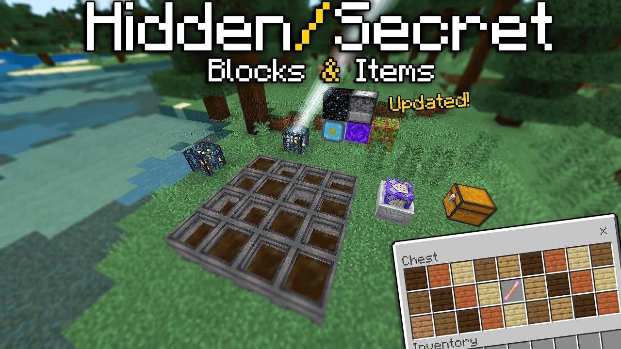 New Hidden Secret Blocks On Minecraft Bedrock Edition Updated Youtube