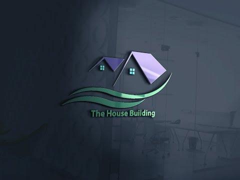 ক্রিয়েটিভ লোগো হাউস ডিজাইন ইলাস্ট্রেটর|Creative Logo House Design Illustrator|Logo House