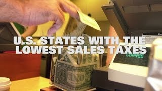 Top 10 US States With The Lowest Sales Taxes 2014