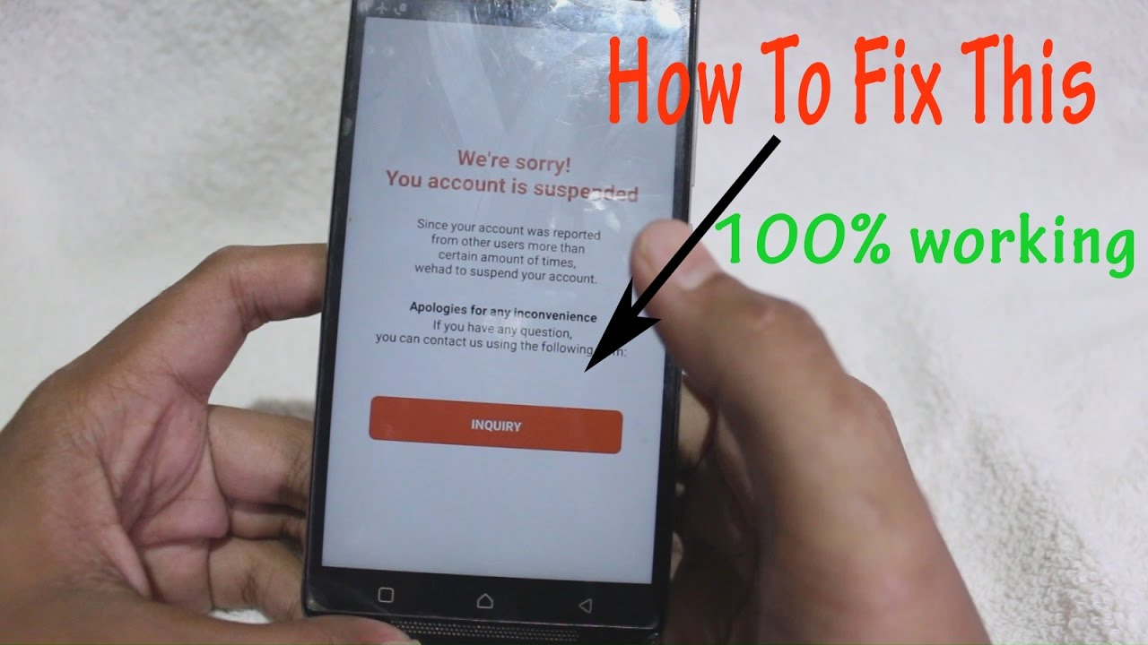 How to fix suspended account on HIT ME UP!! - YouTube
