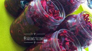 Restoran Usulü Kırmızı Lahana Turşusu | Tadimiztuzumuz