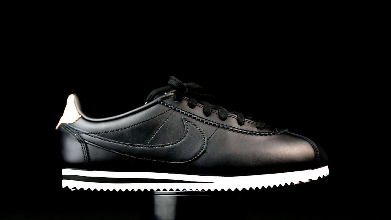 Inscribirse delincuencia jurado  Nike Cortez color negro para chica. - YouTube