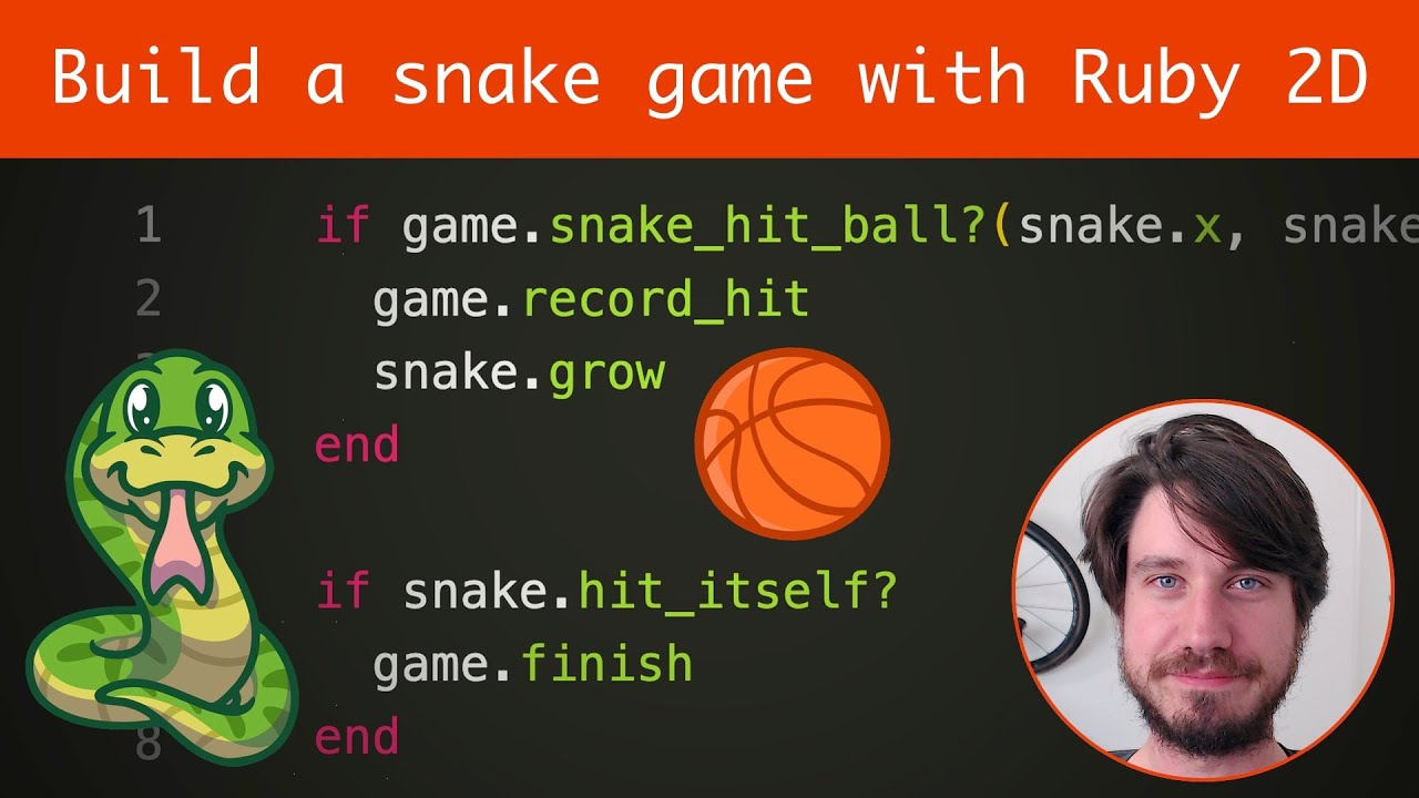 Ruby Programming Tutorial - Building a snake game with Ruby 2D