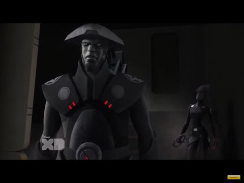 Kanan, Ezra and Zeb trying to escape from the Seventh Sister and the Fifth Brother