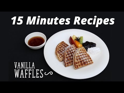 15 Minutes Recipes: Vanilla Waffles Recipe on Food i.e