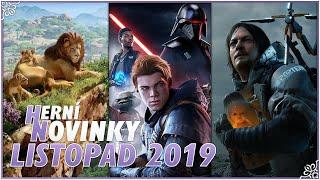 🎮 HERNÍ NOVINKY [Listopad 2019] Death Stranding, Planet Zoo, SW Jedi: Fallen Order a jiné