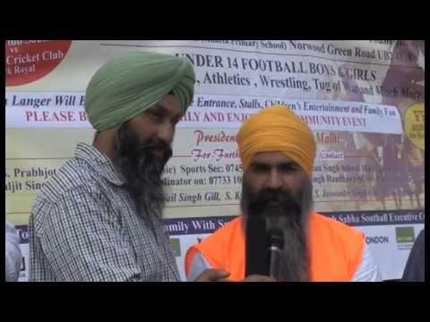 Sikh martial art Gatka program on Sangat TV Southall UK