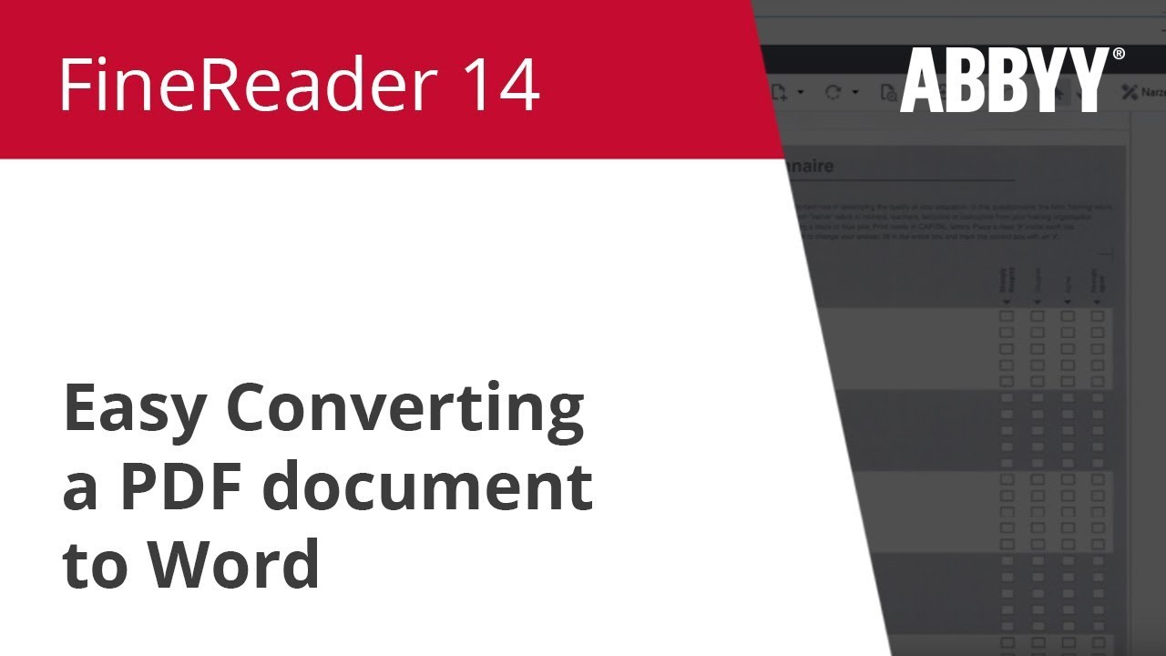 ABBYY FineReader 14 Corporate Edition Free Download
