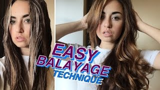 БАЛАЯЖ ДОМА/ ПРОСТАЯ ТЕХНИКА❣️ DIY BALAYAGE AT HOME
