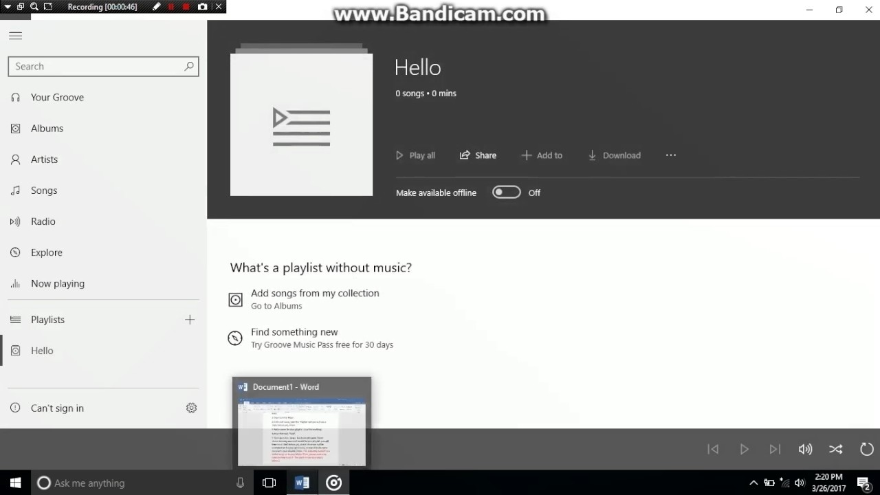 How To Create A Groove Music Playlist And Add It