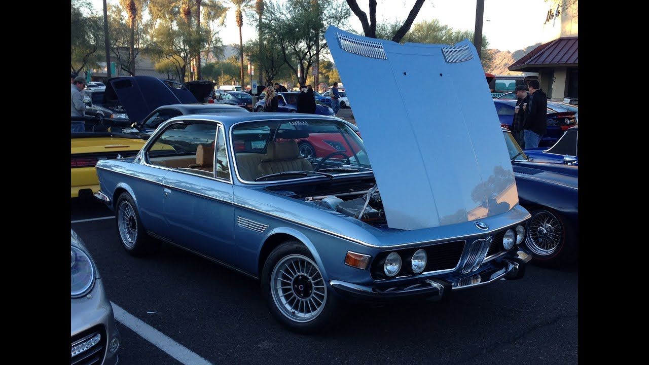 bmw 3 0 csi fully restored at cars and coffee scottsdale arizona youtube. Black Bedroom Furniture Sets. Home Design Ideas