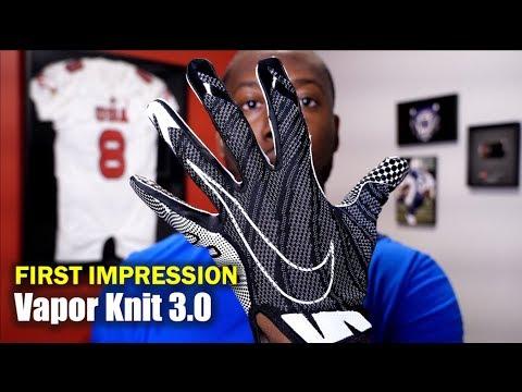 NIKE Vapor Knit 3.0 Football Gloves: 1st Impression