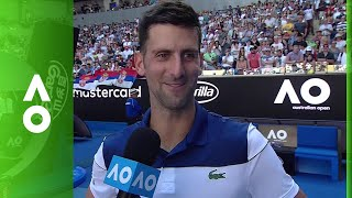 Novak Djokovic on court interview (1R) | Australian Open 2018