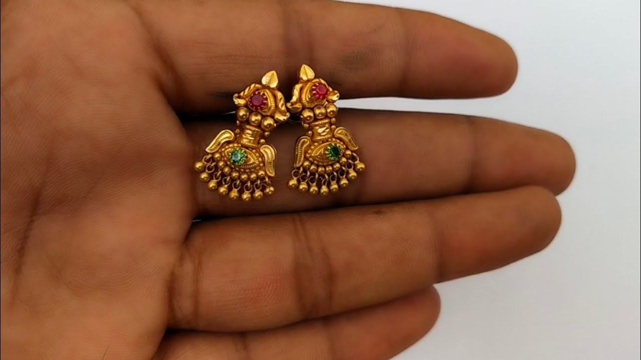 3 Grams Gold Earrings New Design Model