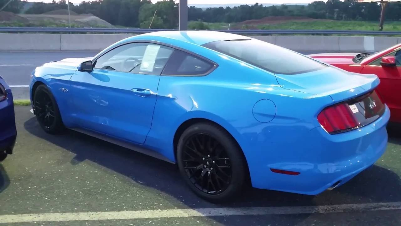 2017 Grabber Blue Ford Mustang With Performance Package For Sale In