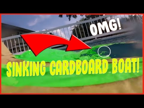 Cardboard ship Floating and Sinking!