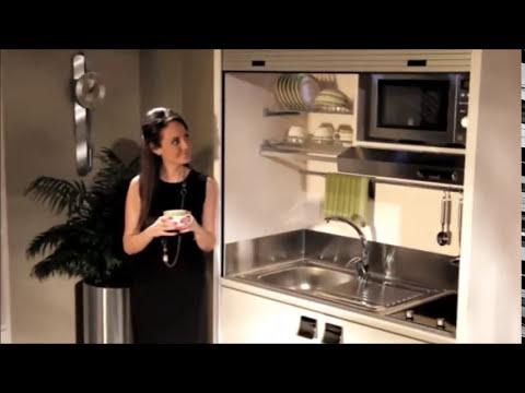 Cucine Monoblocco Roma, Minicucine a Scomparsa - YouTube