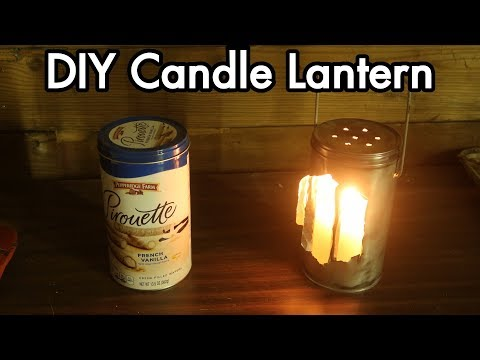 DIY Tin Can Candle Lantern / Lamp / Light: Rough First Try, Reflective Directional Light Mirror