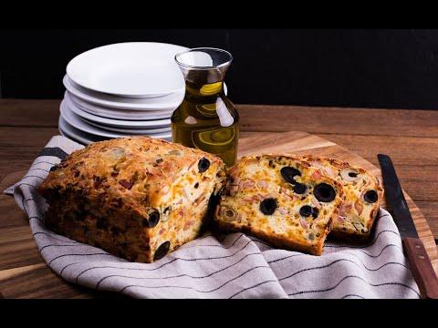 ขนมปังมะกอกแฮมเบคอน Olive, Ham and Bacon Quick Bread - วันที่ 10 Jun 2019